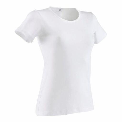 Short-sleeved Gym T-shirt White