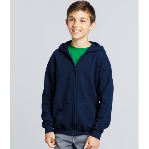 Unisex Kids Zip Hoodie