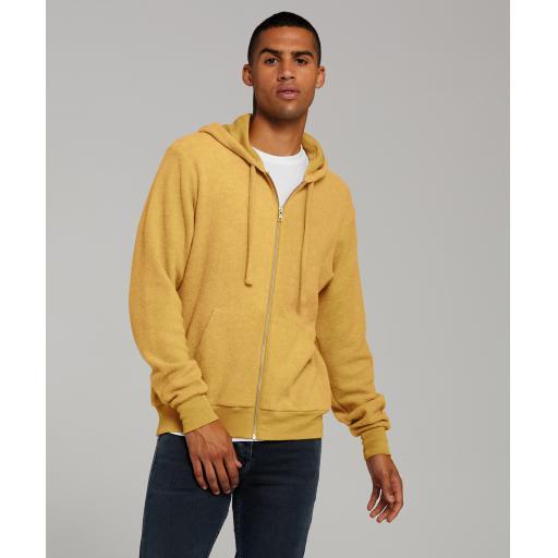 Unisex sueded fleece full-zip hoodie