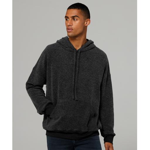Unisex sueded fleece pullover hoodie