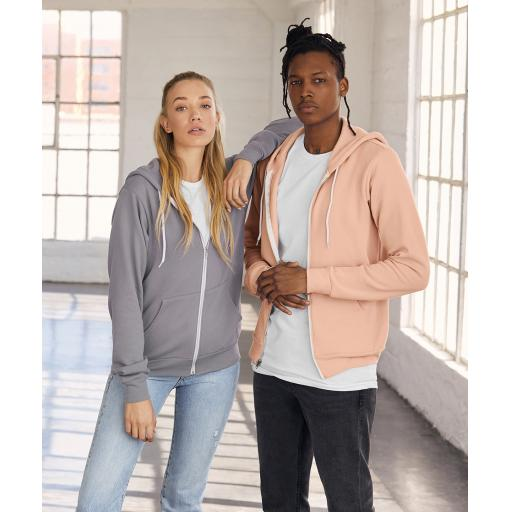 Unisex polycotton fleece full zip hoodie
